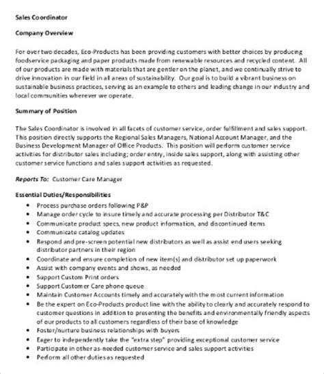 10 coordinator description templates pdf doc