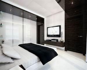 deco chambre blanc et noir With chambre moderne noir et blanc