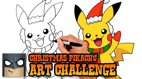 art challenge christmas pikachu video youtube