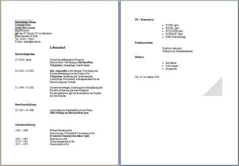 Lebenslauf Muster Word by 15 Lebenslauf Ausbildung Muster Word Rigarda