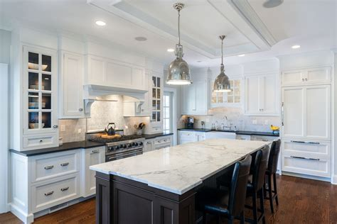 white kitchen island with black granite top granite or marble kitchen island countertops