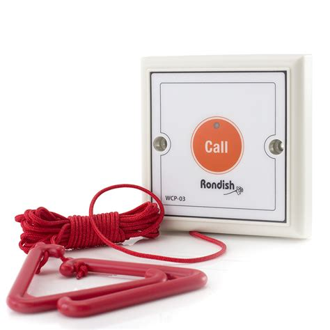pull cord transmitter for rondish disabled toilet alarm care alarms