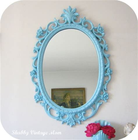 Upcycled Ornate Syroco Aqua Mirror