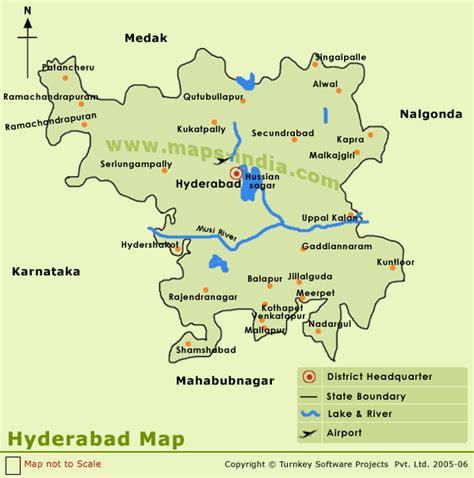 hyderabad map travelsfinderscom