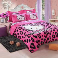 brand logo hello kitty bedding set children cotton bed