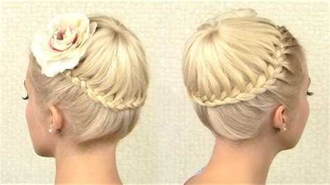 Crown Braid Tutorial Prom Updo Hairstyle For Medium Long