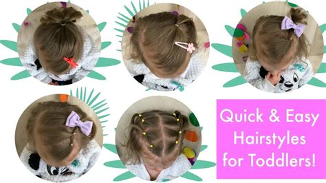 5 Quick And Easy Toddler Hairstyles (thin Hair)!
