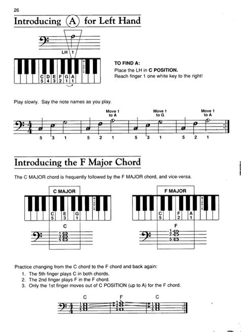 G7 Chord Piano Finger Position