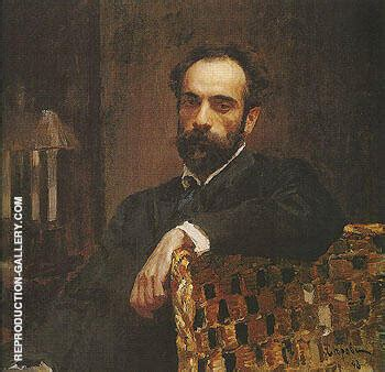 Portrait of Isaac Ilyich Levitan 1893 Painting By Valentin ...