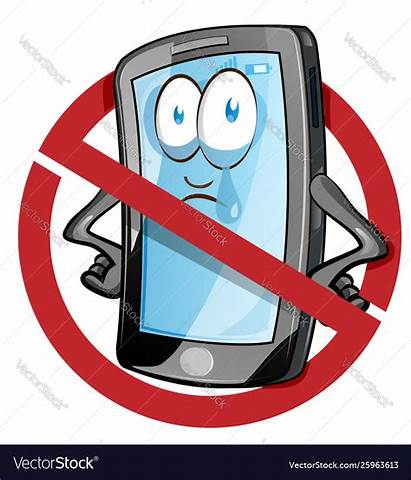 Cell Cartoon Phone Mobile Handy Banned Inside