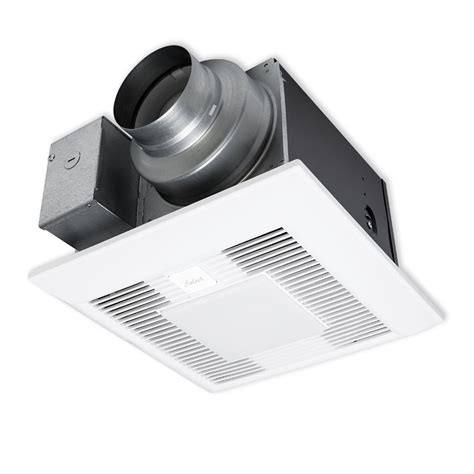 Bathroom Exhaust Fan Light Panasonic by Shop Panasonic 0 4 Sone 110 Cfm White Bathroom Fan With