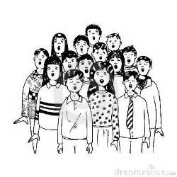 Choir Clip Art Black and White