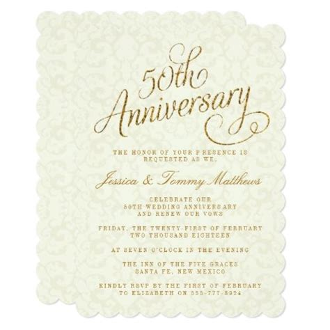 129 best 50th Wedding Anniversary Invitations images on
