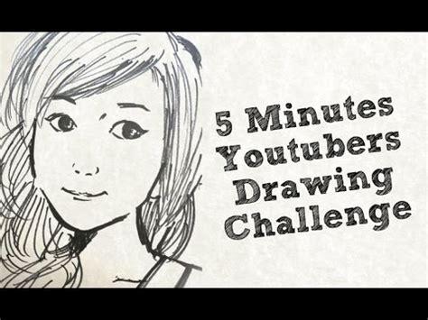 drawing youtubers   minutes challenge bubzbeauty