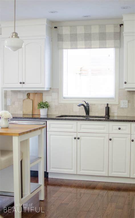 valance lighting kitchen farmhouse kitchen window valance tutorial a burst of 3113