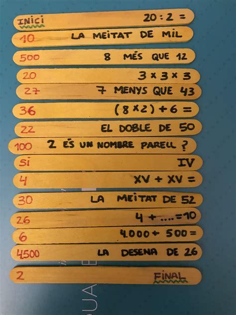 Hola esperando que todos se encuentren bien y. Juego de cálculo mental palos de madera para primaria | Calculo mental, Juegos matematicos ...