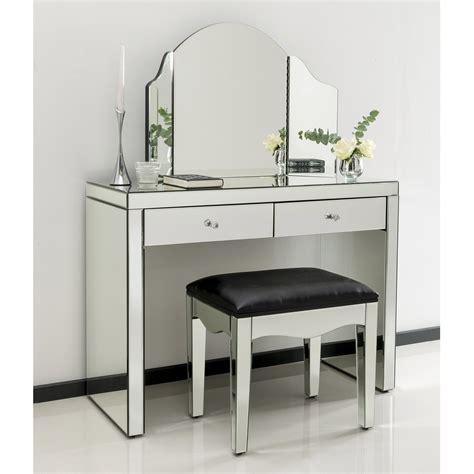 Glass Mirror Vanity Table by Romano Mirrored Dressing Table Set Venetian