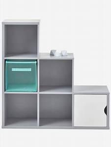 Meuble De Rangement Case : meuble de rangement 6 cases gris vertbaudet ~ Melissatoandfro.com Idées de Décoration
