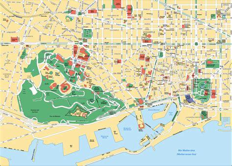 Carte Detaillee Des Monuments De by Carte Espagne Barcelone Images Et Photos Arts Et Voyages