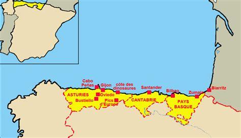 Cote Atlantique Espagne Carte by Congr 232 S International Apbg Espagne Nord Atlantique 2013