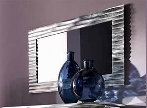 Miroir Rectangulaire Mural : miroir mural rectangulaire avec cadre ebon by cortezari ~ Teatrodelosmanantiales.com Idées de Décoration
