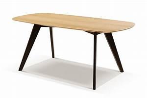 Pied Table Scandinave : table moderne noire et bois albula dewarens ~ Teatrodelosmanantiales.com Idées de Décoration