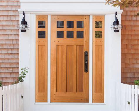 exterior door construction materials wood vs fiberglass