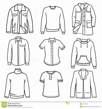 Clothes Outline Template Coloring Mens Overalls Vestiti