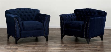 waterford navy velvet club chair from tov tov c42