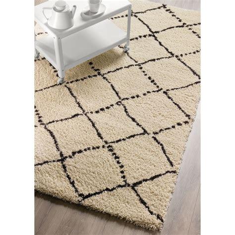 tapis cuisine noir tapis casablanca beige le style berbère de decoway itao