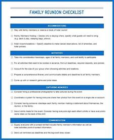Timeline Sheet Template How To Prepare For A Great Big Family Reunion