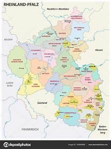 Genehmigungsfreie Bauvorhaben Rheinland Pfalz : mapa de pol ticos e administrativo da ren nia palatinado em l ngua alem vetor de stock ~ Whattoseeinmadrid.com Haus und Dekorationen