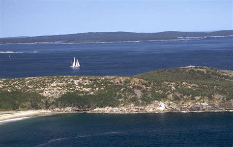 coastline  water  acadia national park maine image
