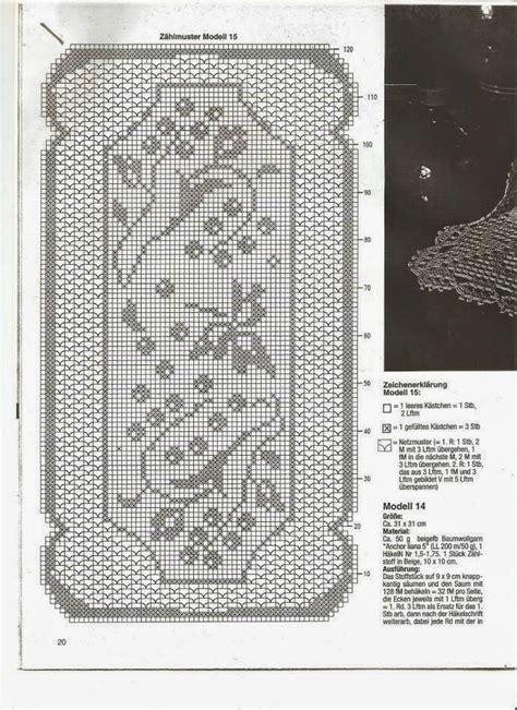 napperon rectangulaire avec fleurs grimpates grille filet