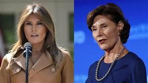 First ladies react: Melania Trump, Laura Bush react to ...