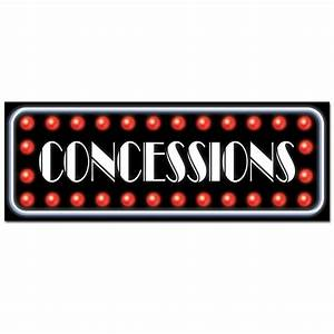 Concessions Sign - Hollywood Awards Party - VIP