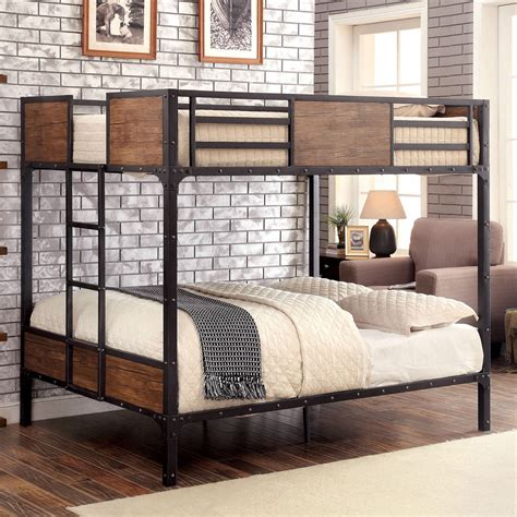 futon size industrial inspired metal size bunk bed