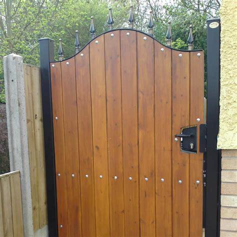 wood lined garden gates ironcraft