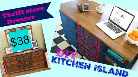 kitchen island   thrift store dresser