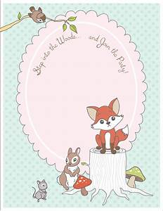 FREE printable woodland animal place cards + party ...