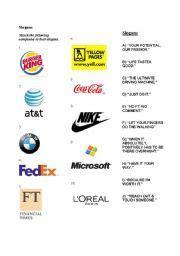 english worksheet writing advertising slogans