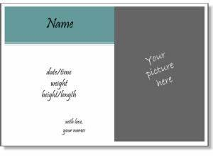 33 best images about birth announcement on pinterest boy With birth announcement template free online