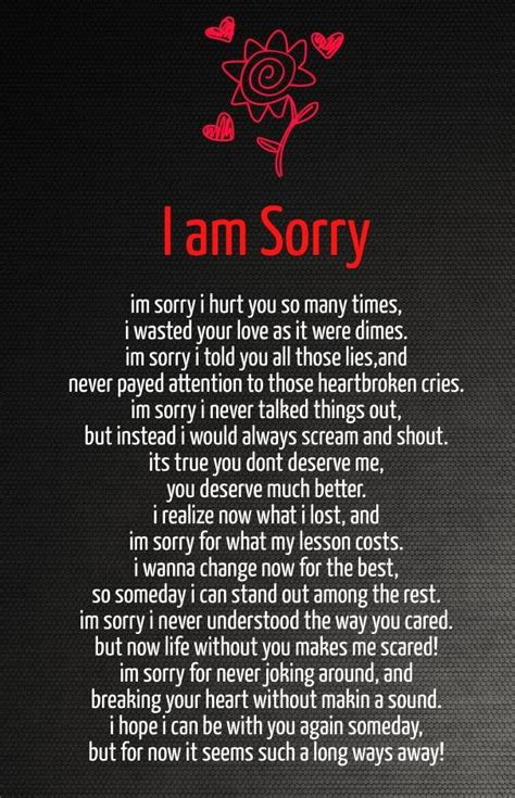 apology poems girlfriendjpg  pixels apologizing
