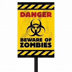 Beware of Zombies Lawn Sign - 335372 trendyhalloween com