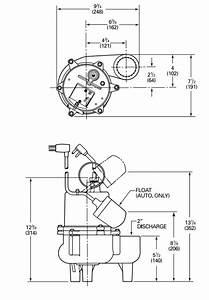 Myers Srm4 Series Sewage Pumps Dimensions