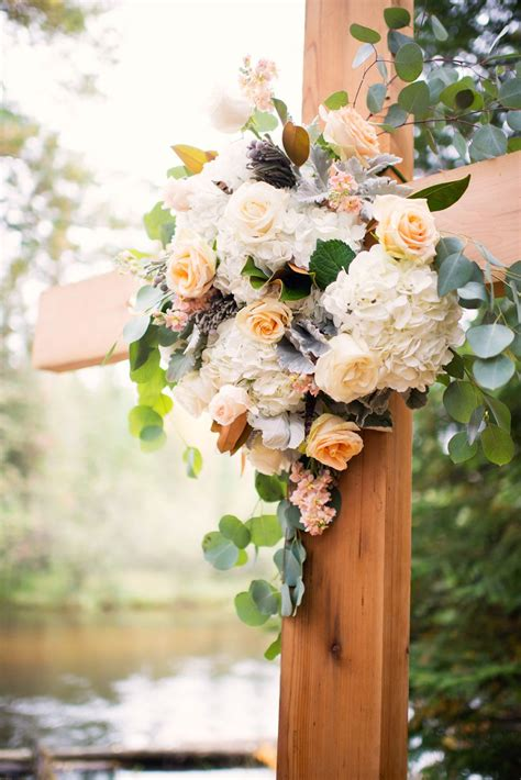 Wedding Ceremony Cross With Bouquet Vintage Wedding