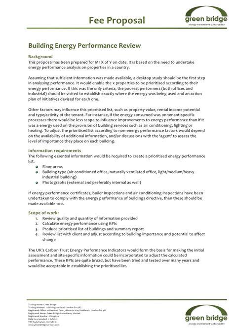sample building energy performance proposal jan