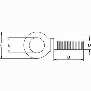 M24 X 36 3mm Shank  Metric Machinery Eye Bolt  Self Colored