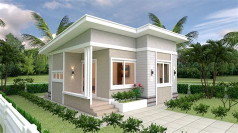 Small House Design Plans 7x7 with 2 Bedrooms trong 2020