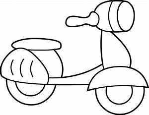 Mini Scooter Coloring Page - Free Clip Art